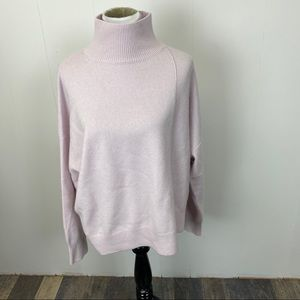 Vince Blush Pink Funnel Neck Sweater
